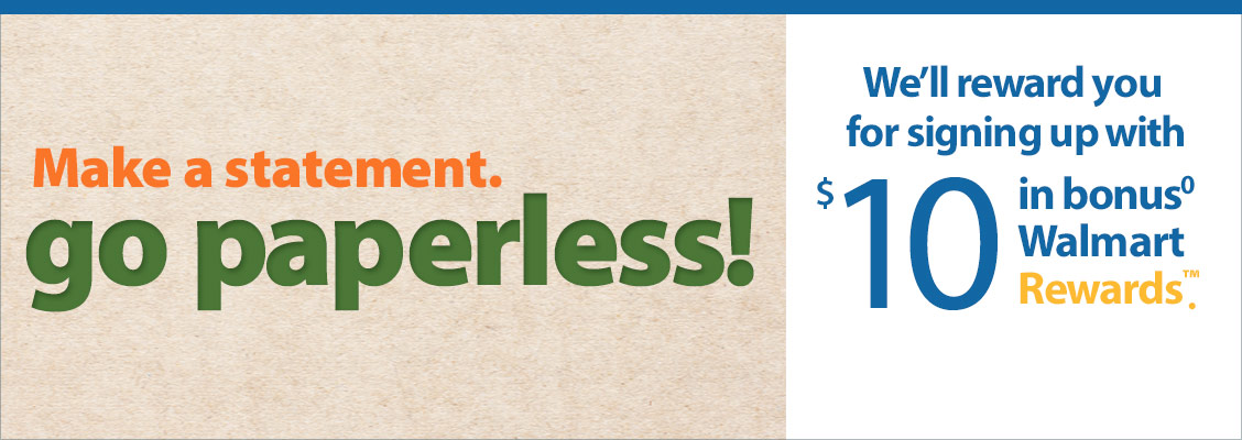 Make a statement, Go Paperless!